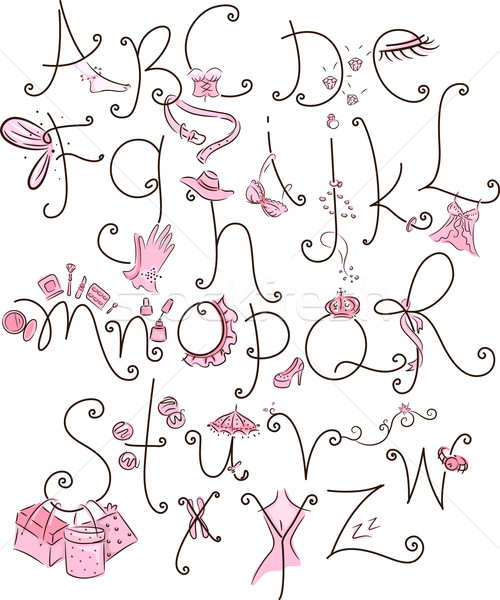 Girl Alphabet Stock photo © lenm