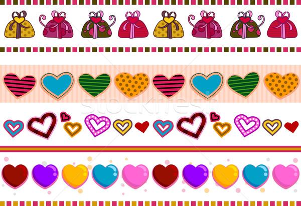 Love / Hearts Borders Stock photo © lenm