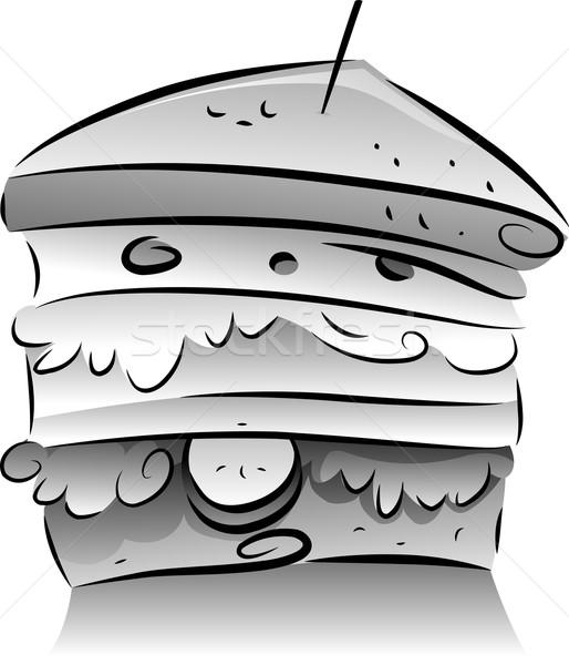 Black and White Sandwich Stock photo © lenm