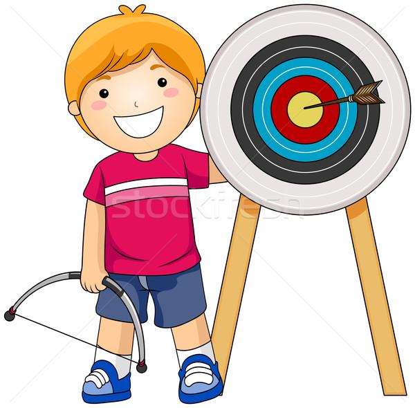 мальчика лучник спорт клуба молодые Сток-фото © lenm