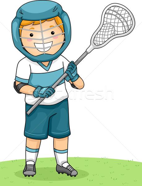 Lacrosse Boy Stock photo © lenm
