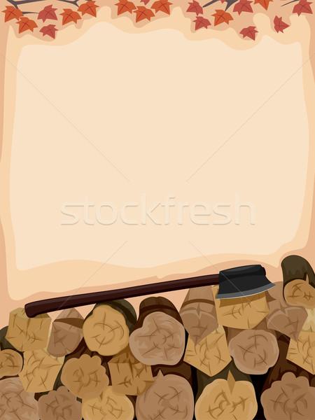 Axe Log Chop Stock photo © lenm