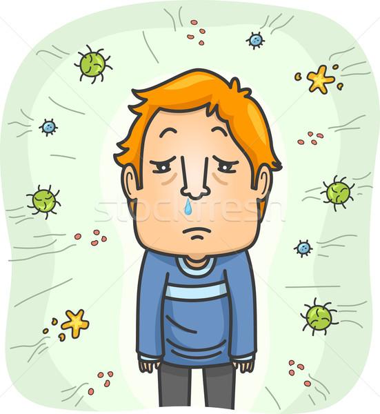 Man Attack Viruses Stock photo © lenm