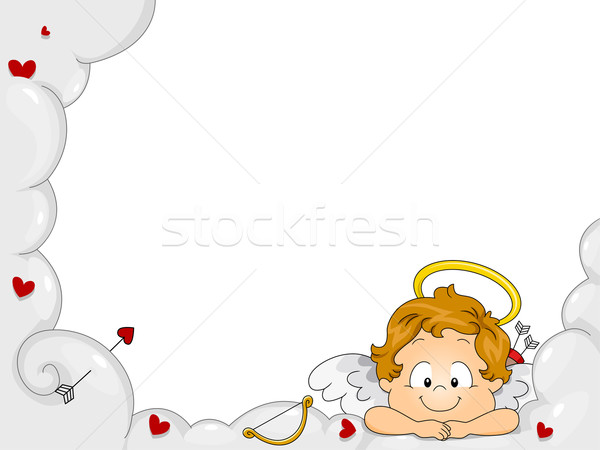 Baby Cupid Frame Stock photo © lenm