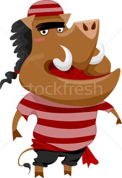 Wild Boar Pirate  Stock photo © lenm