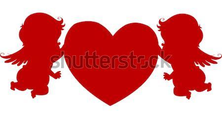 Stock fotó: Szív · férfi · tart · nagy · szeretet · terv