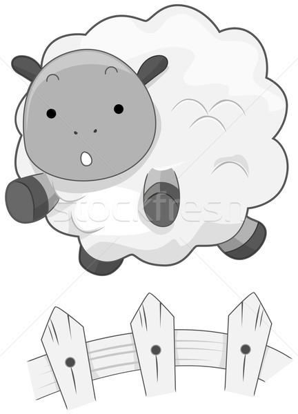 Bonitinho Ovelha Animal Cerca Desenho Animado