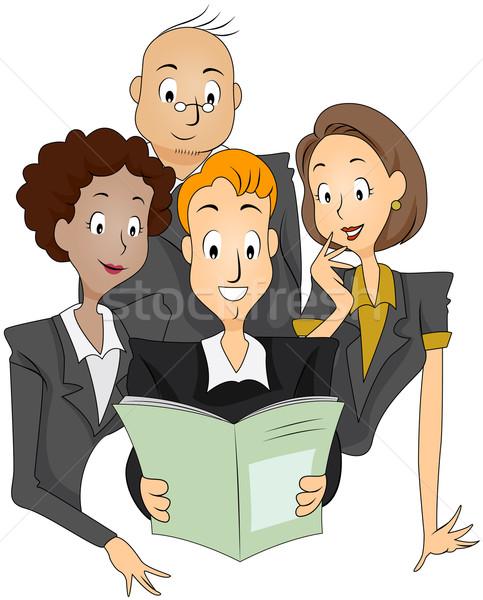 Empresa hoja informativa lectura negocios Foto stock © lenm