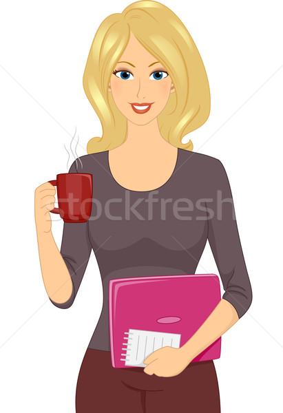 Blogger Girl Stock photo © lenm