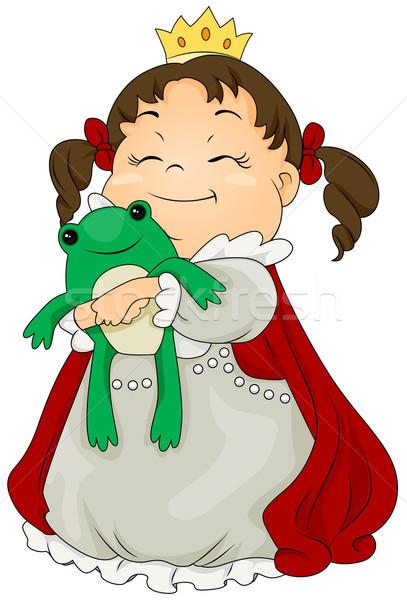 Rana príncipe ilustración nino princesa Foto stock © lenm