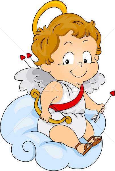 Baby Cupid Stock photo © lenm