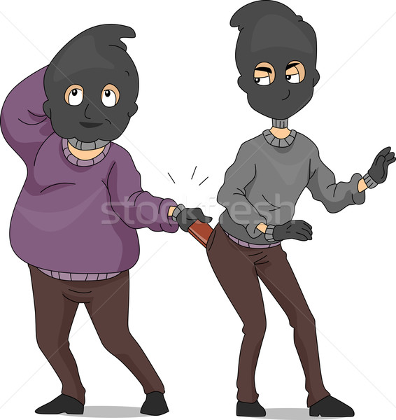 Funny Robbers Stock photo © lenm