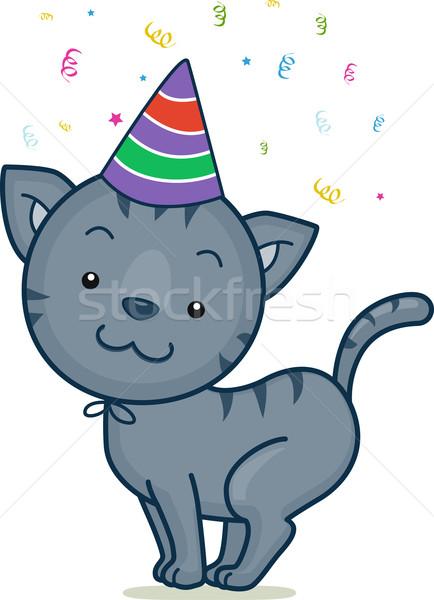 Birthday Cat Stock photo © lenm