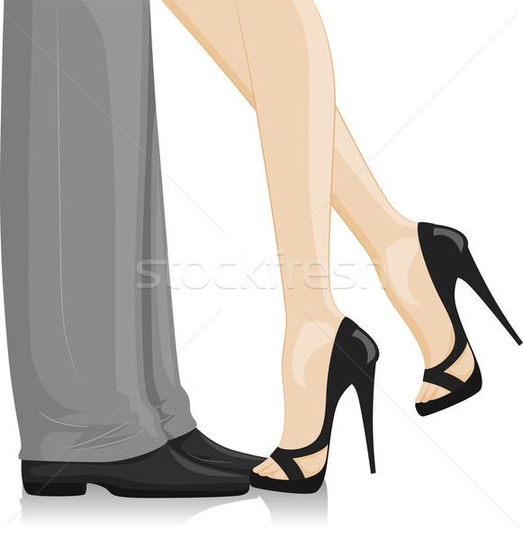 Couple Feet  Stock photo © lenm