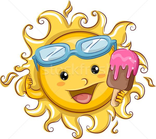 Sun Holding a Popsicle Stock photo © lenm