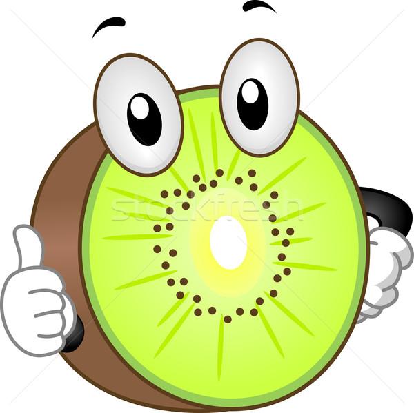Kiwi mascotte illustratie voedsel vruchten Stockfoto © lenm