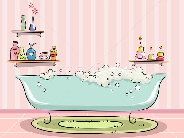 Vasca da bagno bolle illustrazione design cartoon profumo Foto d'archivio © lenm