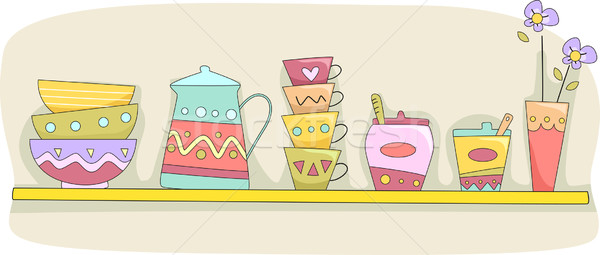Kitchen Shelf Stock photo © lenm