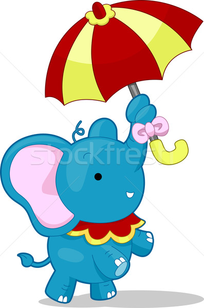 Circus Elephant with Umbrella Stock photo © lenm