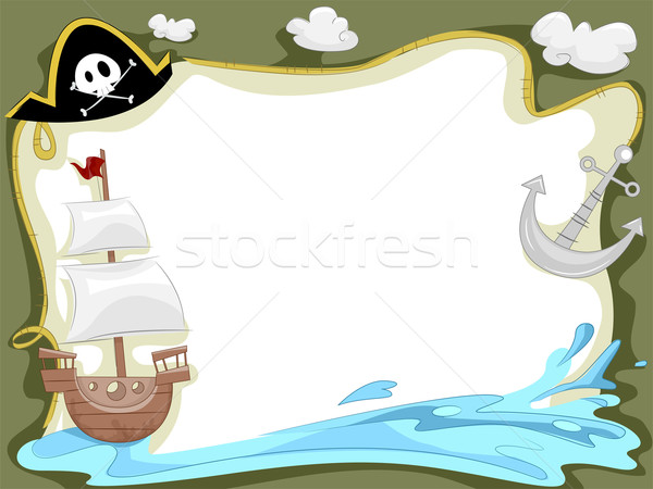 Pirate Ship Background Stock photo © lenm