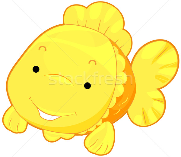Cute Gold Fish Stock photo © lenm