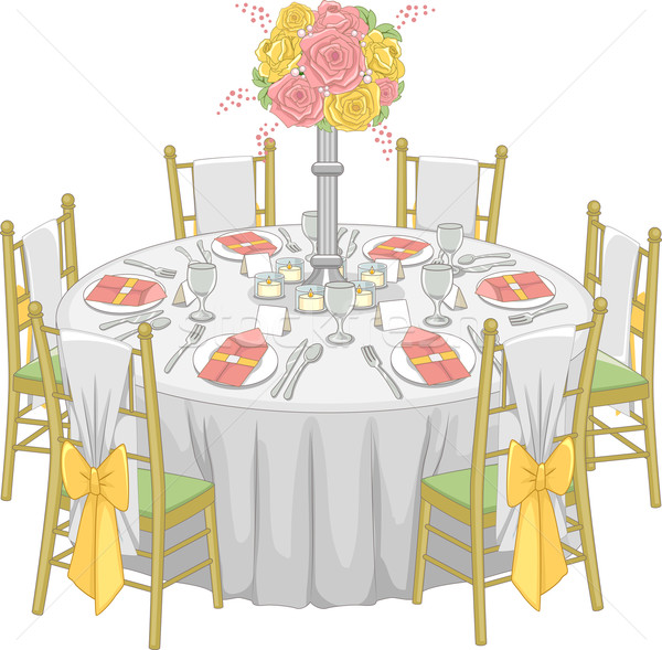 Stock photo: Formal Reception Table