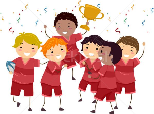 実例 グループ 子供 祝う 選手権 勝利 ストックフォト © lenm