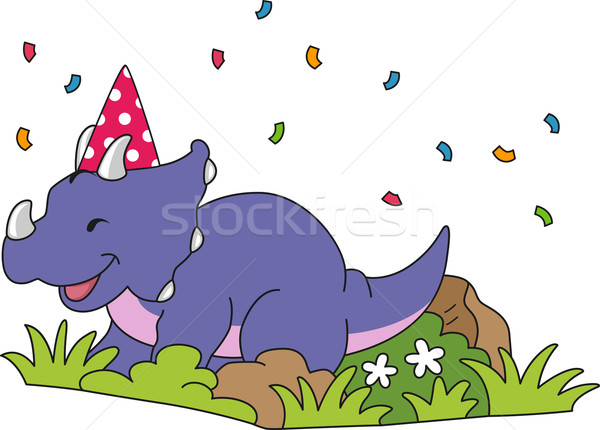Triceratops Birthday Stock photo © lenm