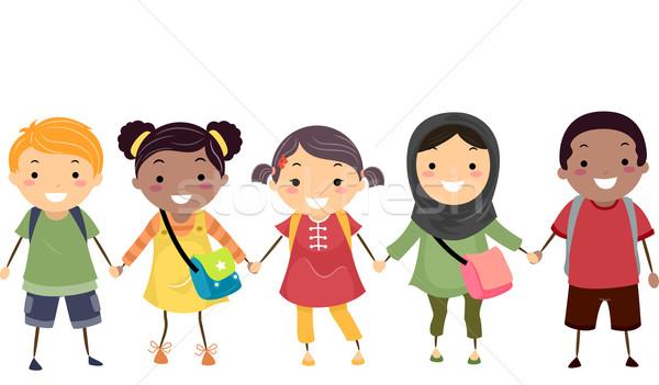 Dzieci szkoły różnorodności ilustracja dziecko Zdjęcia stock © lenm