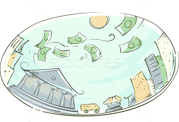 Money City Stock photo © lenm