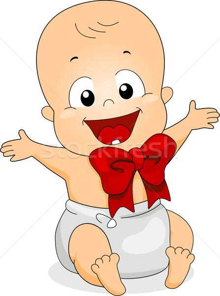 Bébé ruban illustration suspendu heureux amusement Photo stock © lenm