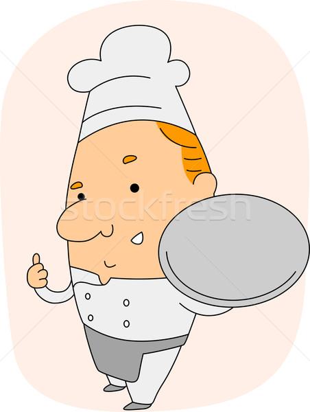 Chef ilustração vazio prato homem Foto stock © lenm