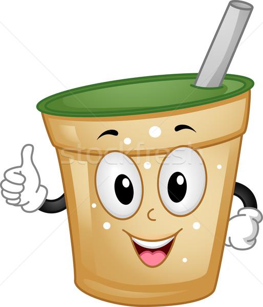 Milk Tea Mascot Stock photo © lenm