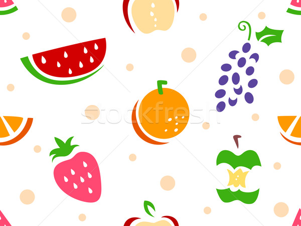 Fruit Stencil Background Stock photo © lenm