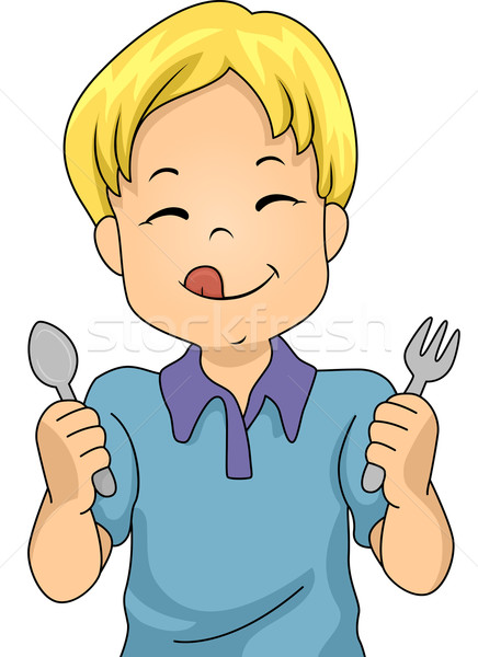 Hungry Boy Stock photo © lenm