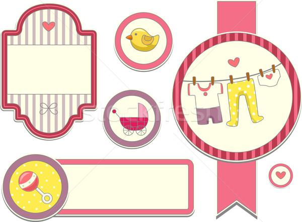 Kislány terv elemek illusztráció különböző használt Stock fotó © lenm