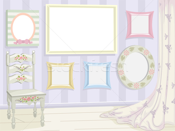 Stock Photo Vector Illustration Featuring A Variety Of Frames Sporting Shabby Chic Design