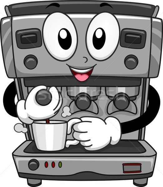 Coffee Machine Mascot Stock photo © lenm