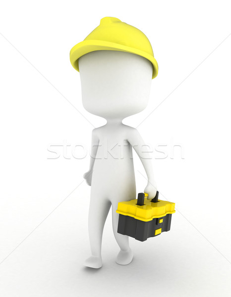 Man Carrying a Toolbox Stock photo © lenm