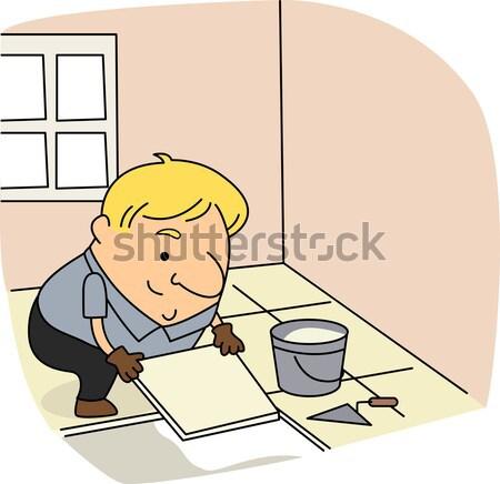 Pintor ilustração trabalhar homem pintura carreira Foto stock © lenm