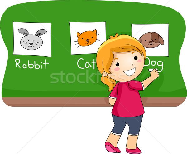 Animal Lesson  Stock photo © lenm