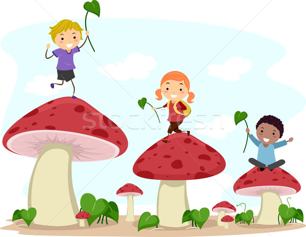 Mushroom Hopping Stock photo © lenm