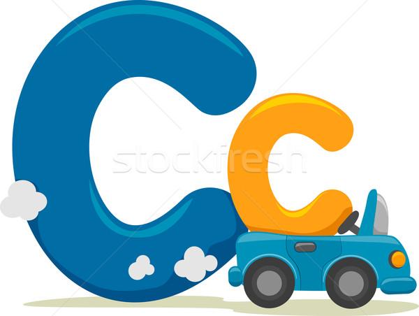 Letra c ilustração brinquedo leitura aprendizagem desenho animado Foto stock © lenm