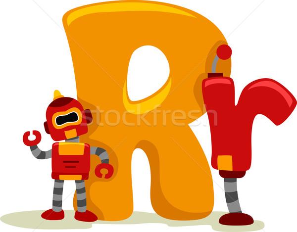 Litera r ilustracja edukacji list zabawki maszyny Zdjęcia stock © lenm