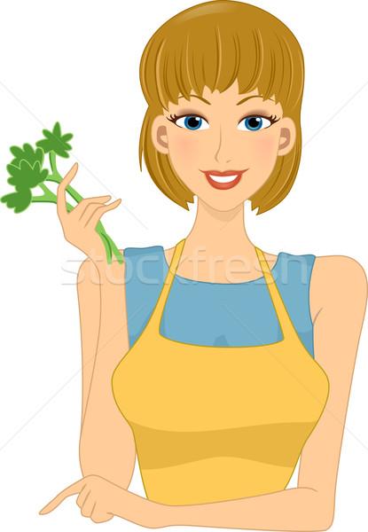 Veggie Girl Stock photo © lenm