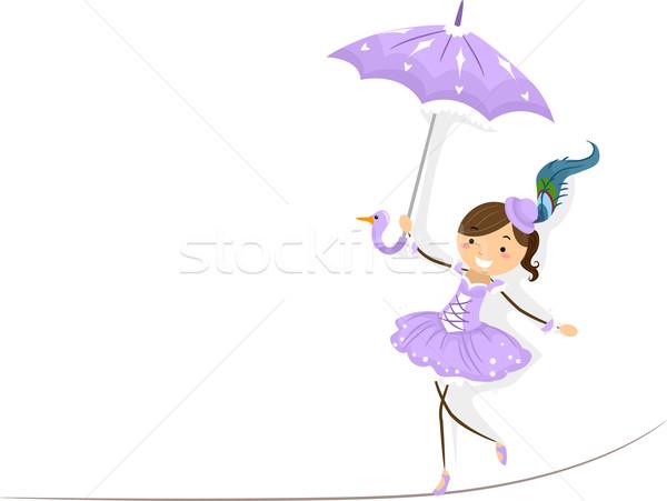 Ip örnek kadın sirk yürüyüş Stok fotoğraf © lenm