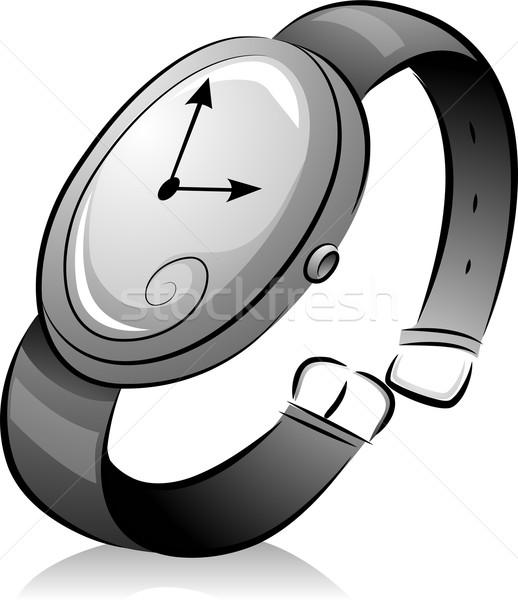 Black and White Wristwatch Stock photo © lenm