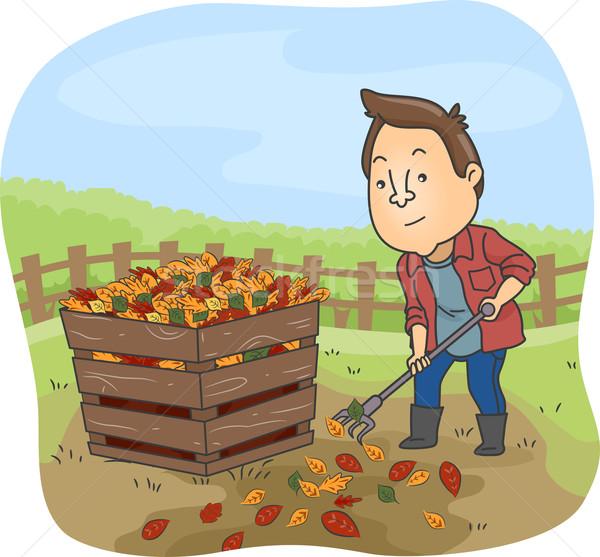Compost Bin Man Stock photo © lenm