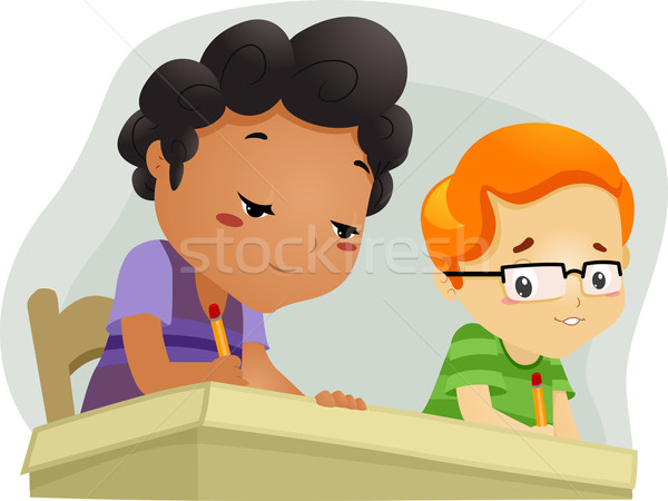 Chłopca ilustracja mały skopiować dzieci dziecko Zdjęcia stock © lenm