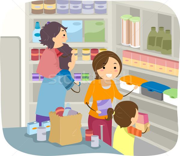 Family Stockpiling Stock photo © lenm